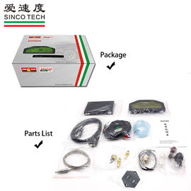 SINCO TECH Race Car Dashboard 6.5 Inch Hardness Wire Full Sensors Kit