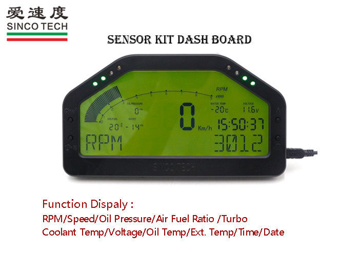 Green Backlight Custom Auto Dashboards Full Sensors Kit DO 904 High Performance